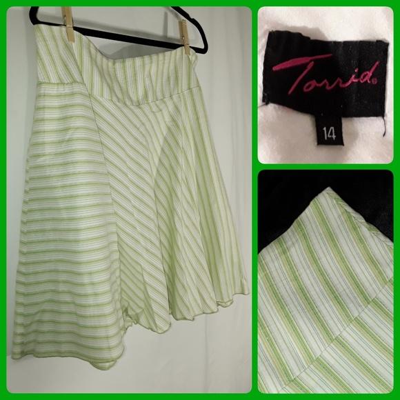 torrid Dresses & Skirts - Green TORRID Striped Skirt